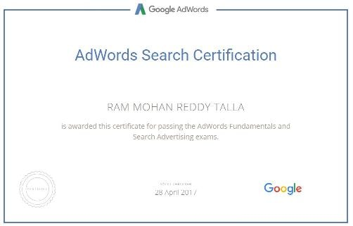 Google Certified Online Advertising Professional